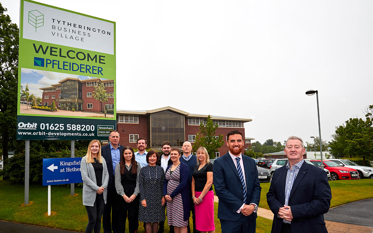 PFLEIDERER RELOCATES UK OFFICE INTO GREENWAY HOUSE